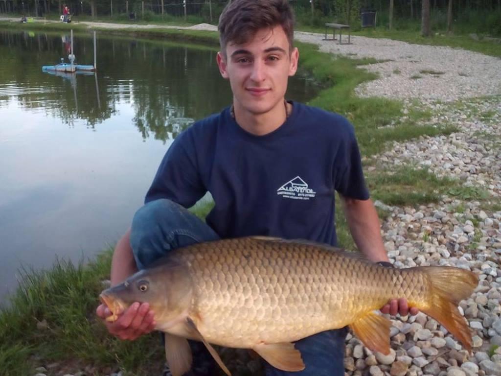 Luca con carpa regina kg 10,4